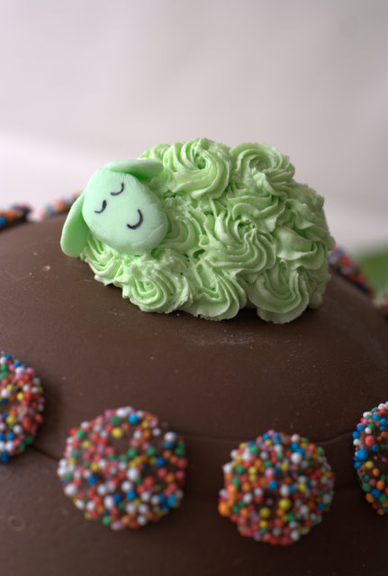 green sheep birthday party