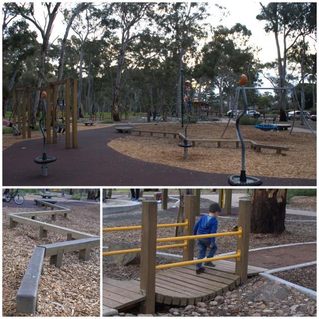 Hazelwood Park Playground bridge beam