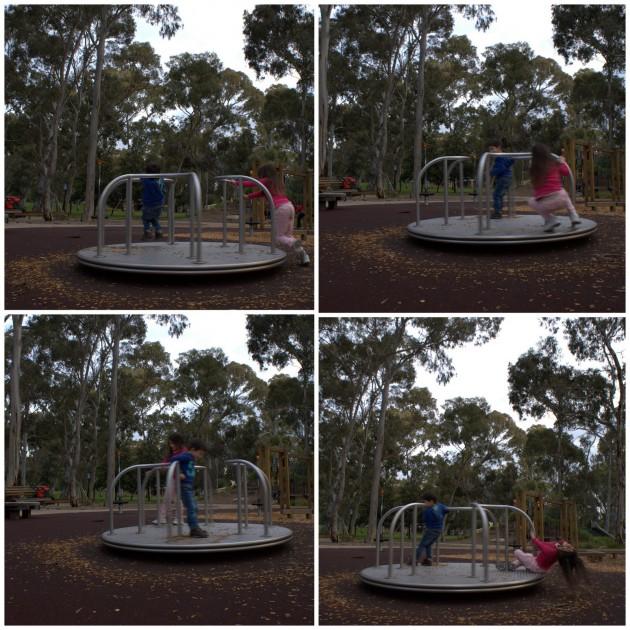 Hazelwood Park Playground roundabout
