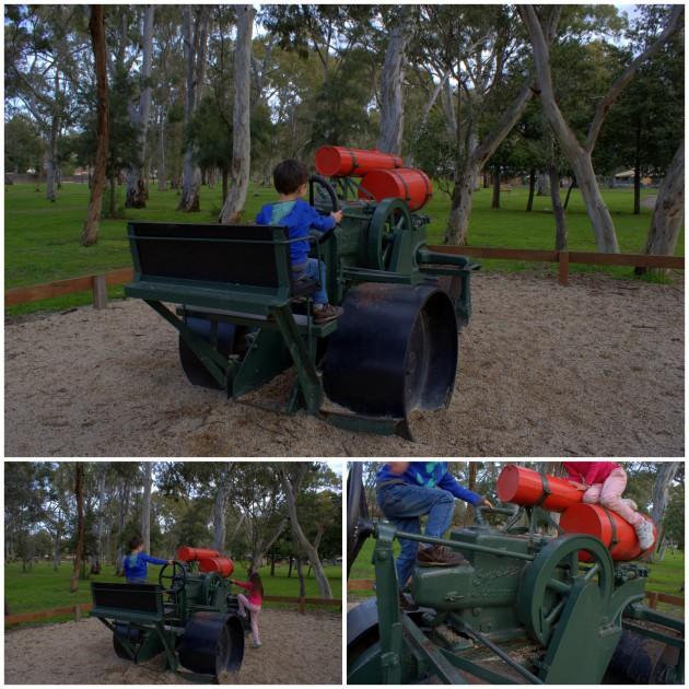 Hazelwood Park Playground steamroller