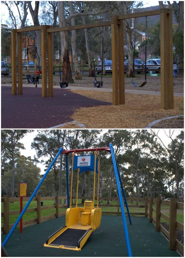 Hazelwood Park Playground swings