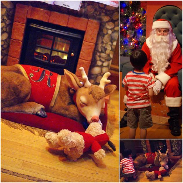 Myer Santaland Father Christmas & Rudolph