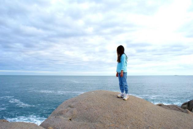 Horseshoe Bay on top of rock