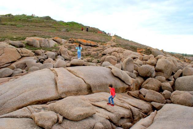 Horseshoe Bay over rocks