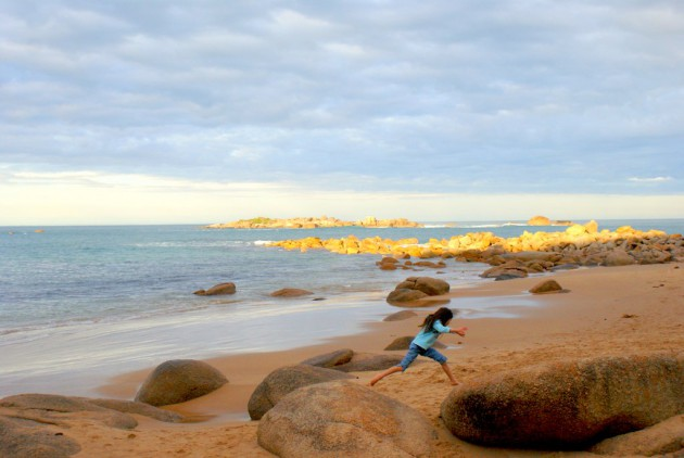 Ladies Bay leaping