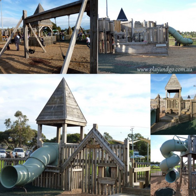 Jubilee Park wooden fort playground