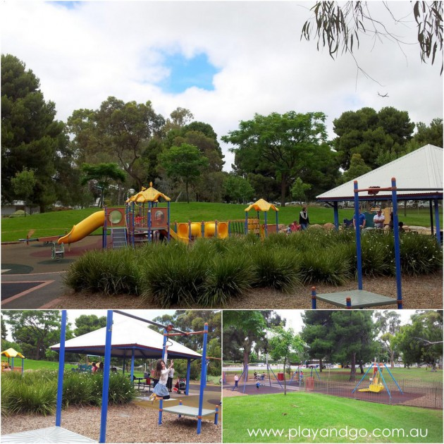Bush Magic Playground North Adelaide flying fox liberty swing