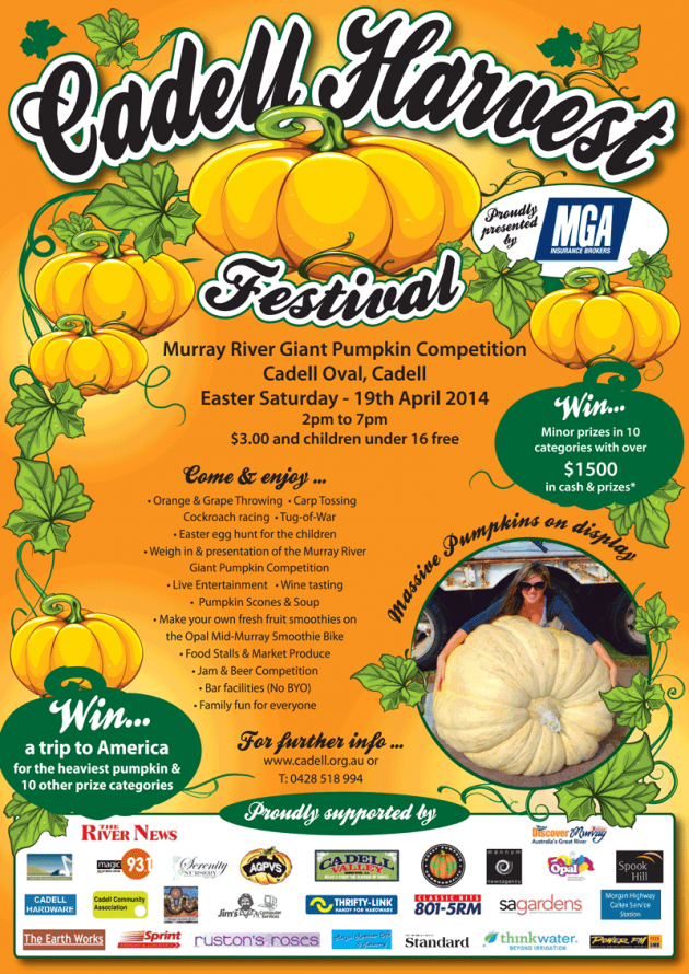 Cadell Harvest Festival | 19 April - 921.9KB