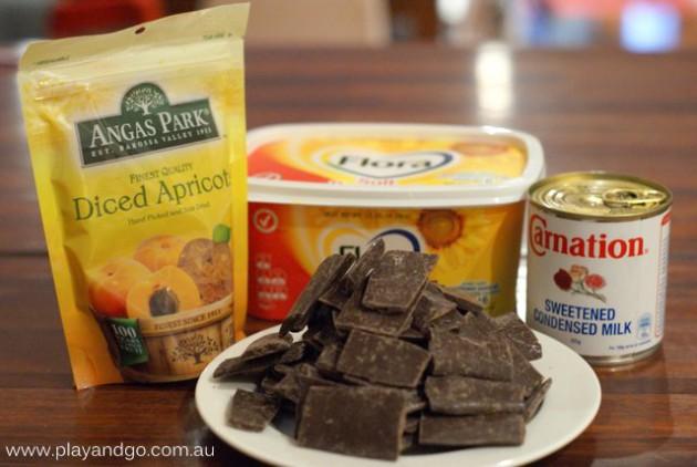 chocolate apricot fudge 2