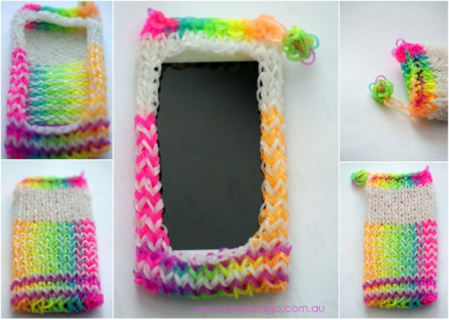 loom band ipod cover