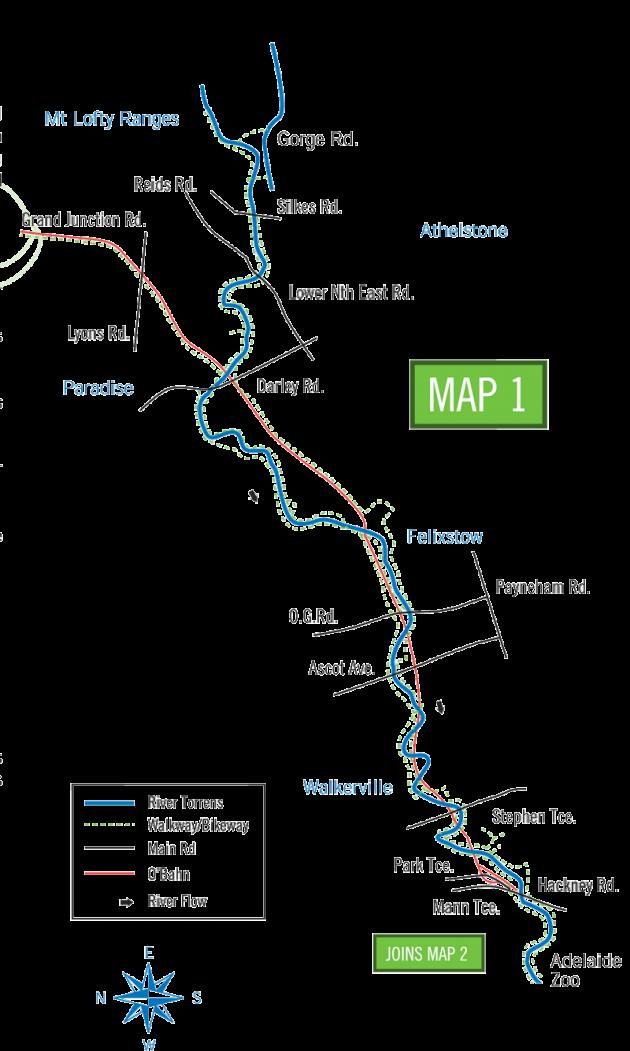 River Torrens Linear Park Bike Ride Map