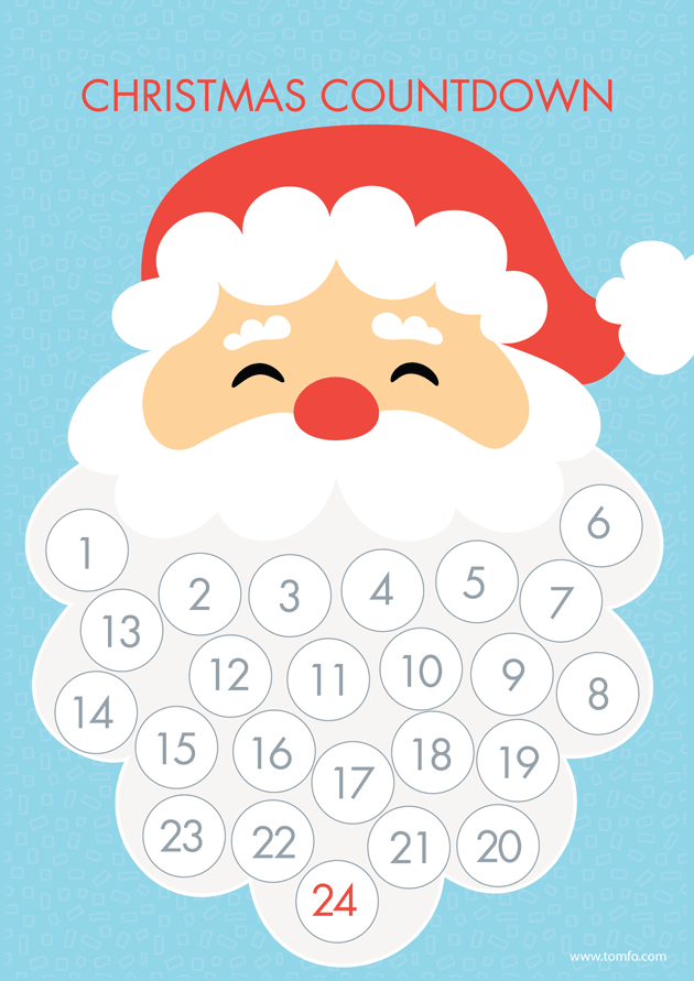 i love the santa beard countdown