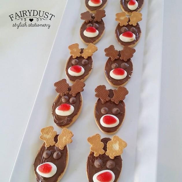 reindeer biscuits tiny teddies nutella