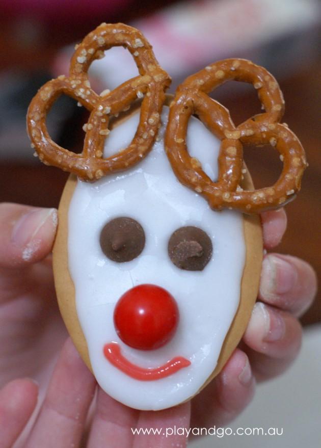 Reindeer biscuit smile