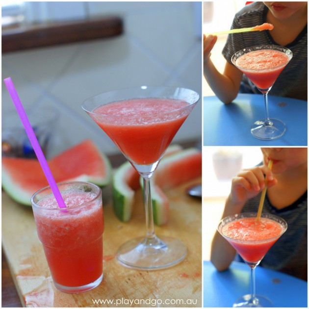 Watermelon Shake glasses