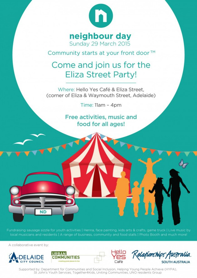 Eliza Street Party For Neighbour Day 29 March 2015