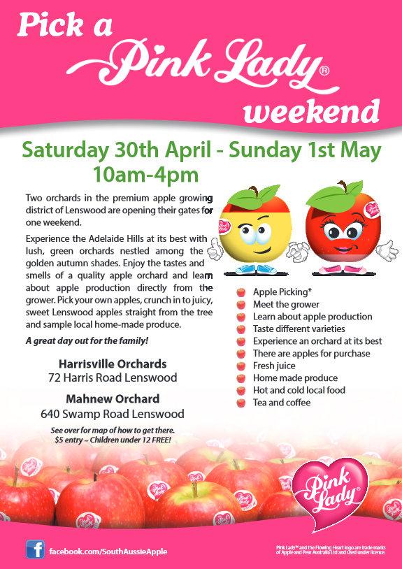 pink lady apples weekend
