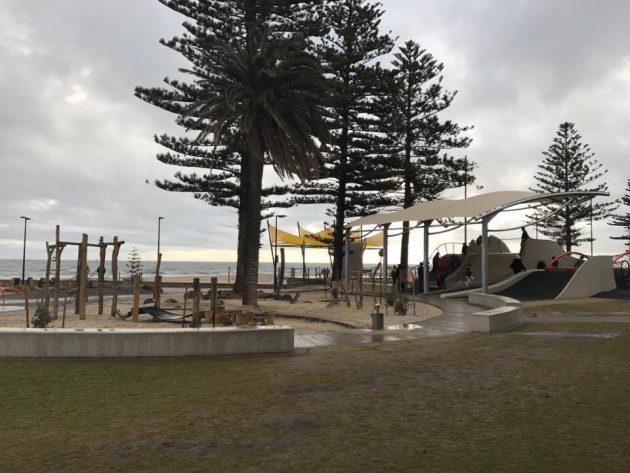 glenelg foreshore playground new shade