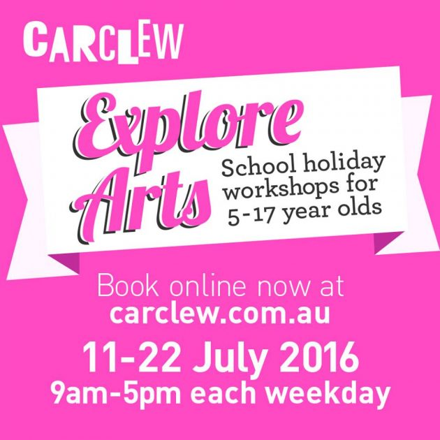 carclew explore arts school holiday workshop