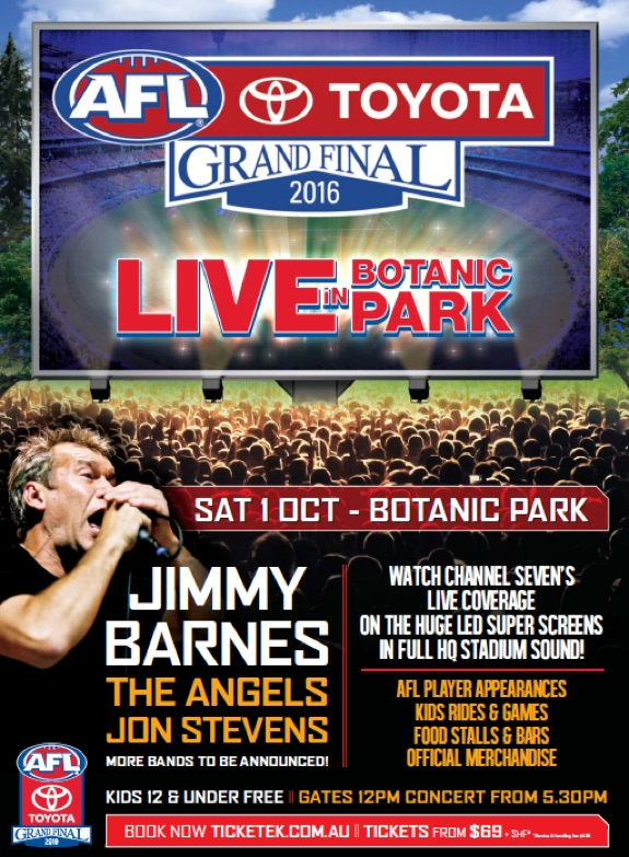 AFL Grand Final Live in Botanic Park