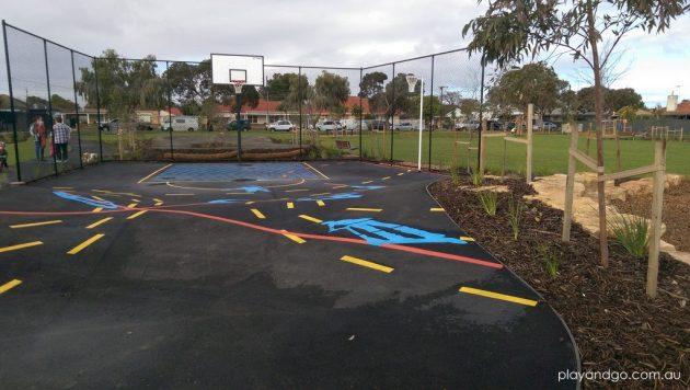 Jervois St playground basketball
