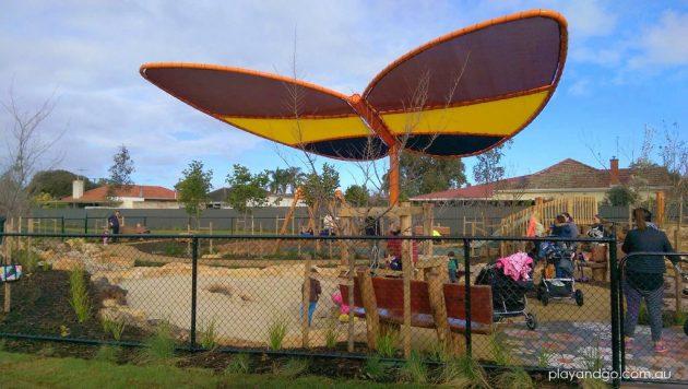 Jervois St playground butterfly