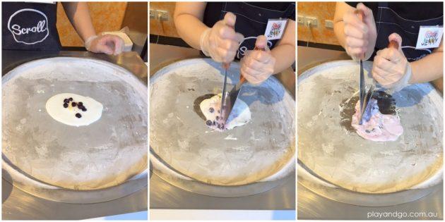scroll ice cream how it's made