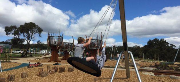 cobbler creek playground tyre swing