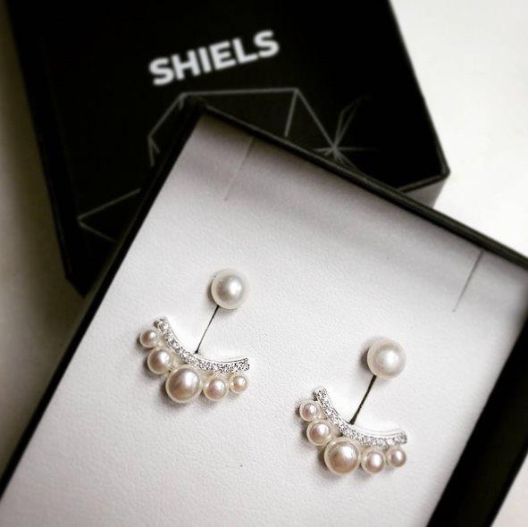 shiels earrings in box