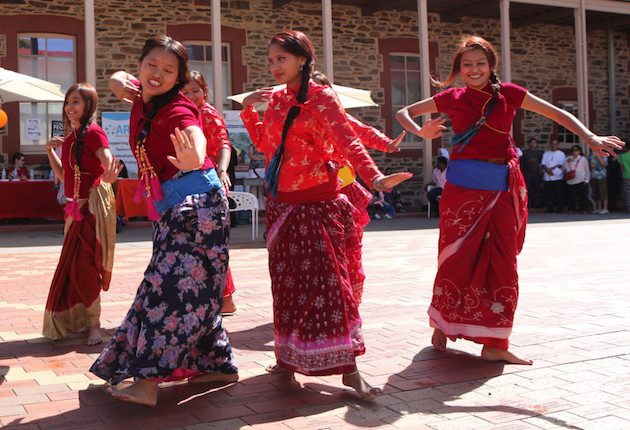 Bhutanese Dancers Harmony Day celebrations at the Migration Museum 2015