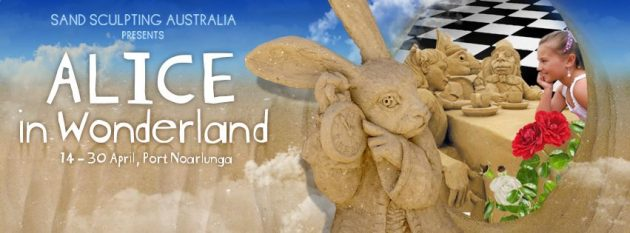 sand sculptures alice in wonderland Apr 17