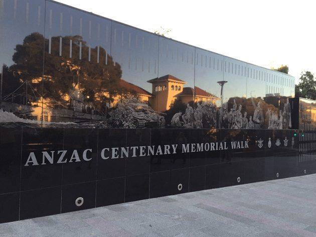 ANZAC Memorial walk granite wall