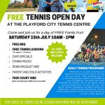 free tennis open day