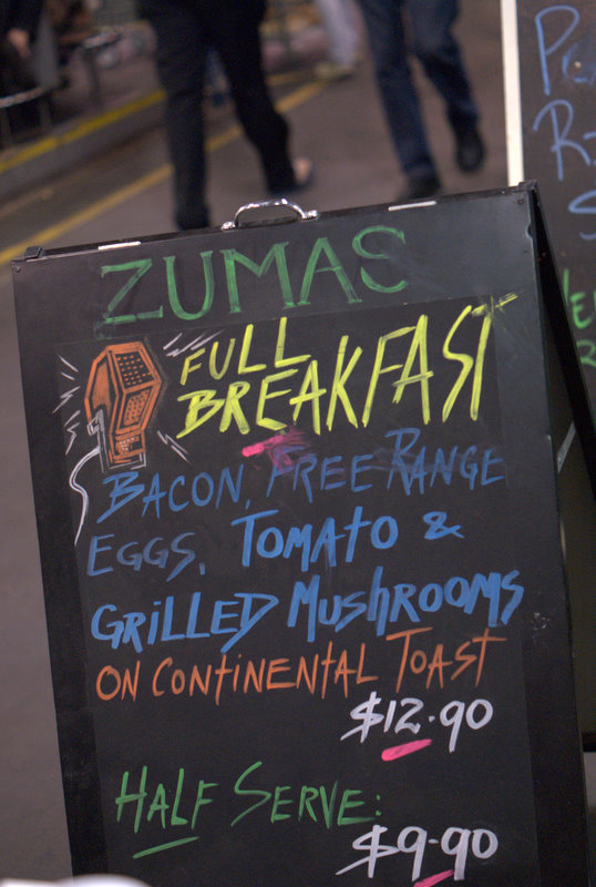 Adelaide Central Market Weekend Breakfast Menu at Zuma