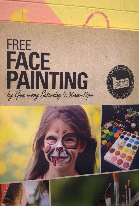 Adelaide Central Market Weekend Breakfast comes with face painting