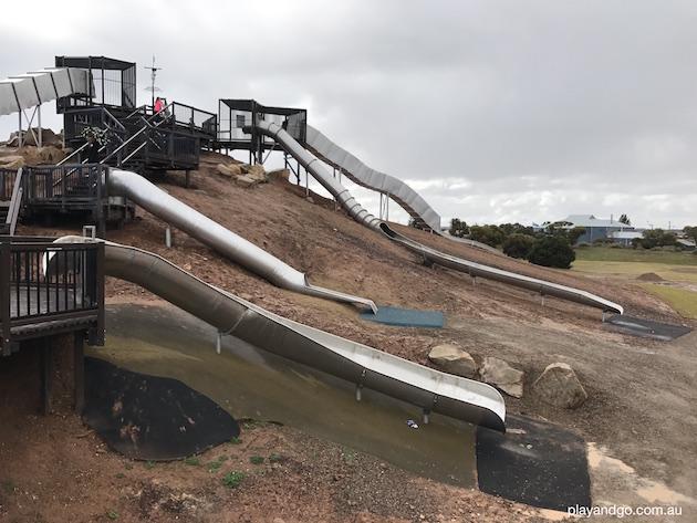st kilda playground new slides