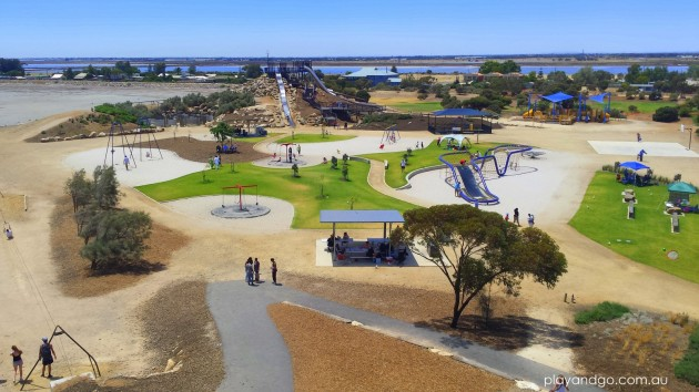 st kilda playground view from castle