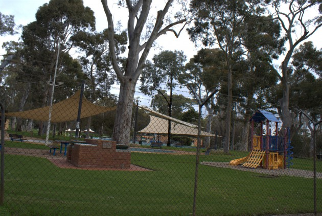 Hazelwood Park Playground view of the Burnside pool