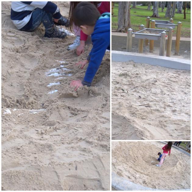 Hazelwood Park Playground sandpit