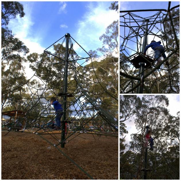 Hazelwood Park Playground spider web