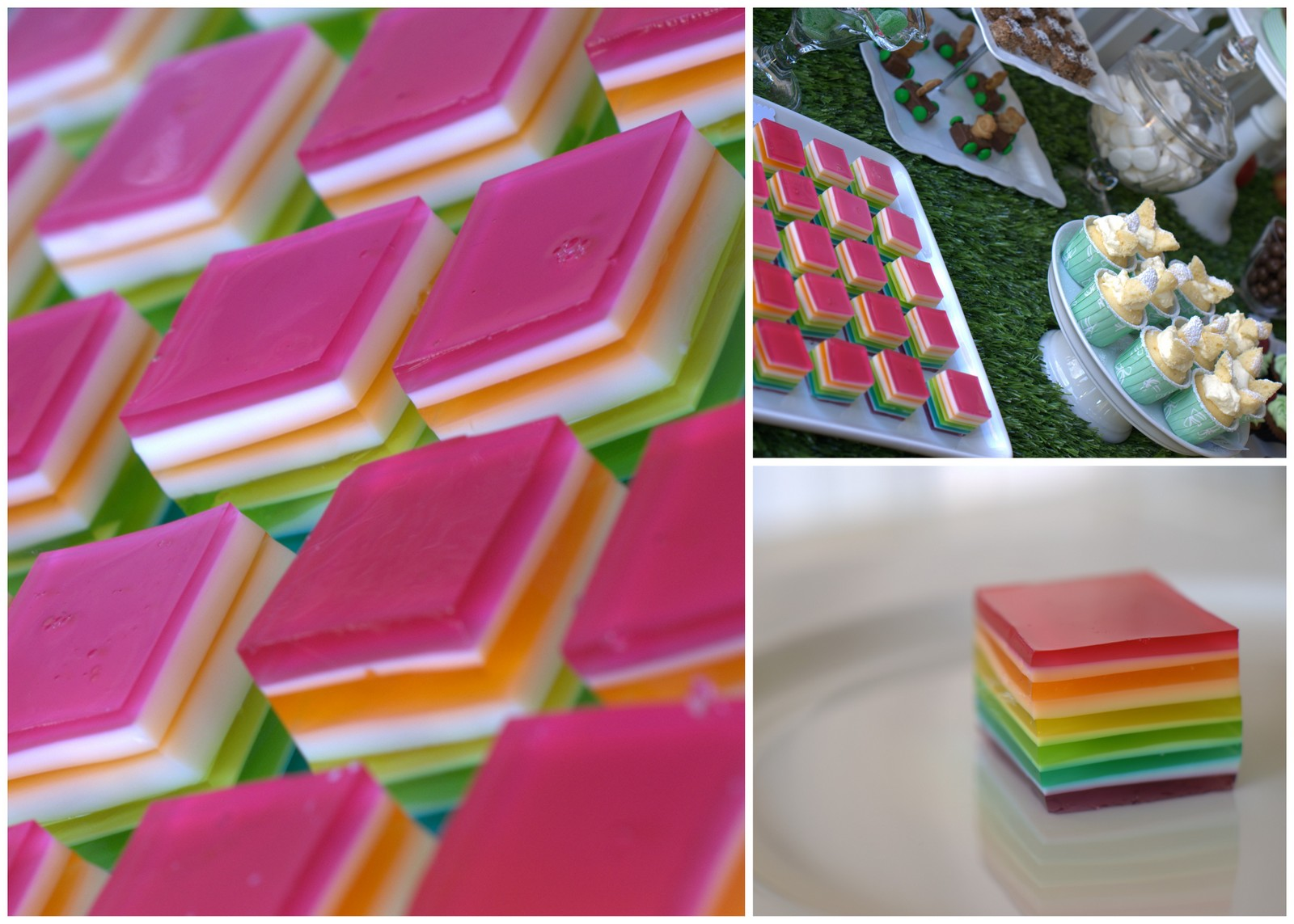 Rainbow Jelly Square Delights | Recipe - What's on for Adelaide Families & Kids