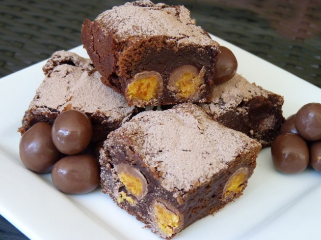 Fruchocs Brownies on plate
