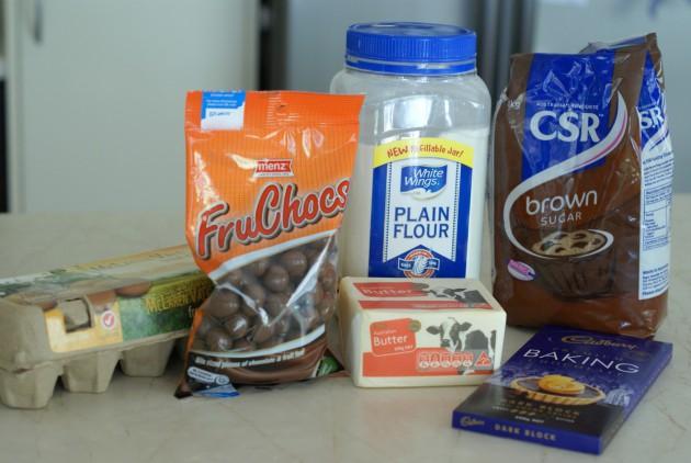 Fruchocs Brownies ingredients