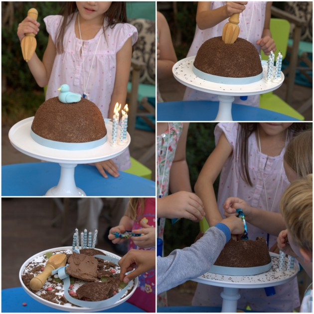 Little Blue Bird Birthday How To Make A Chocolate Smash Cake