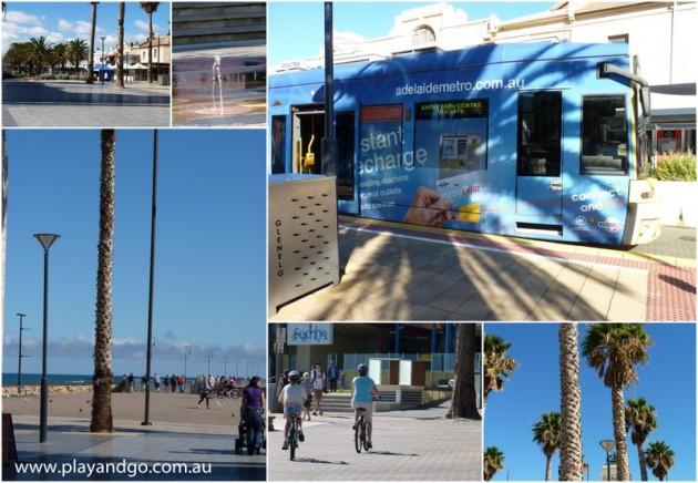 a day in glenelg - tram to glenelg