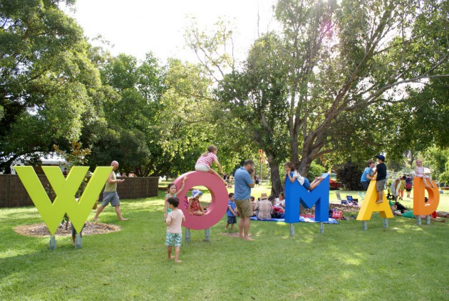 womad kidzone letters
