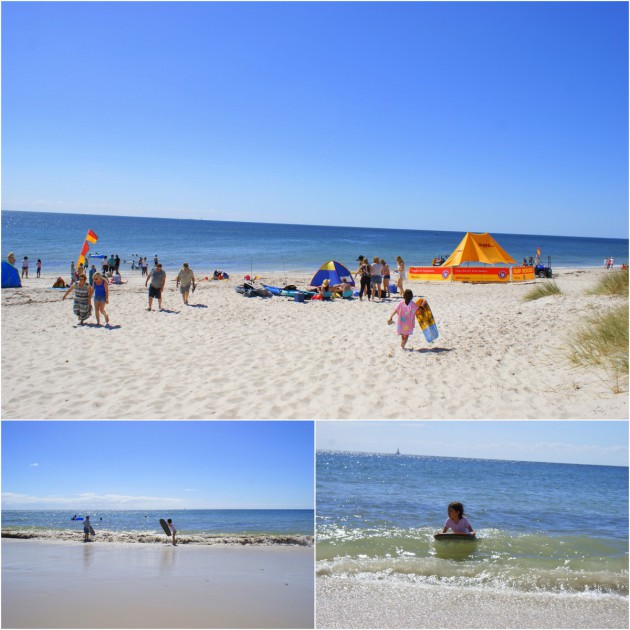 Normanville Beach surf life saving boogie board