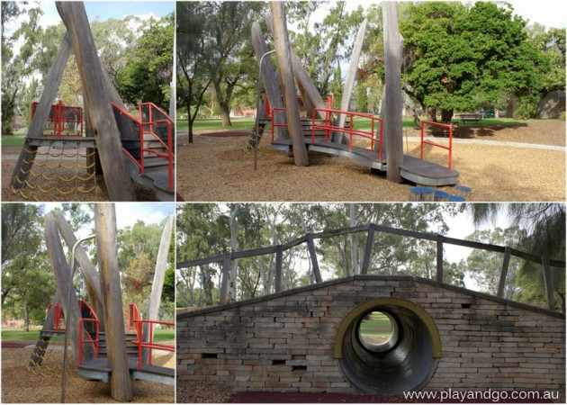Burnside Adventure wooden structure and tunnel