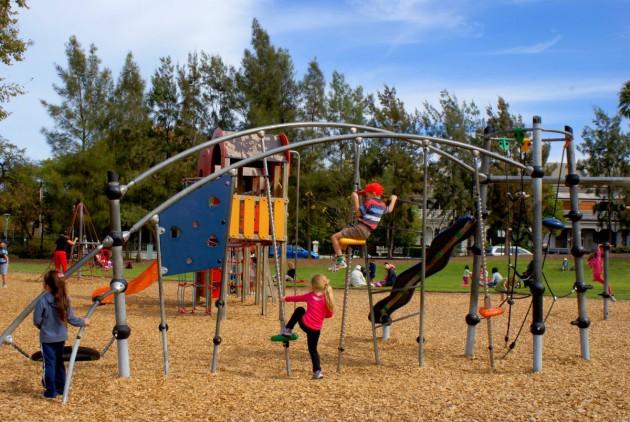 helicopter park climbing frame older