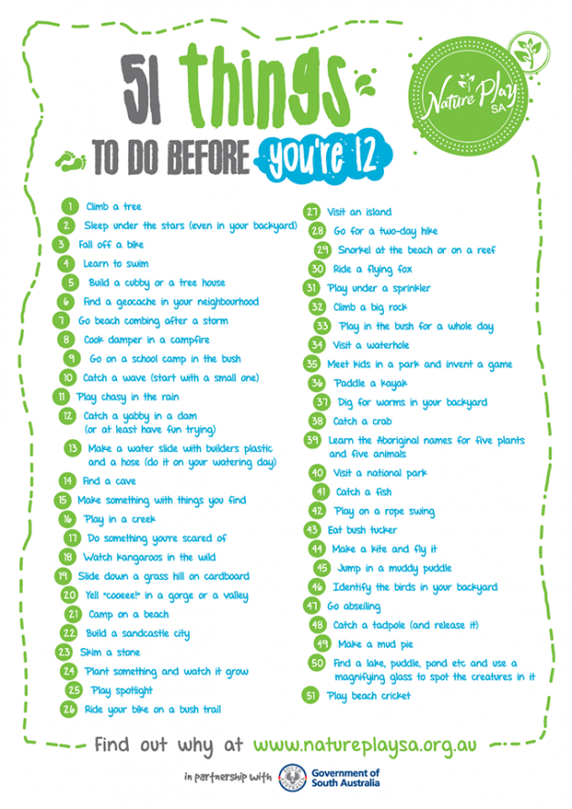 51 things to do before you're 12